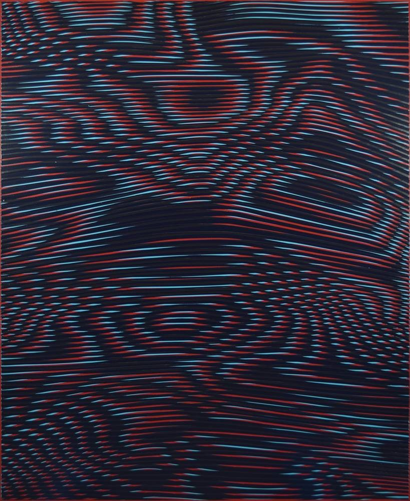 OilSlick 2016 - 75x92 cm - Acrylic paint on wooden panel