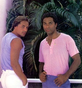 Don Johnson e Philip Michael Thomas  in Miami Vice 1986