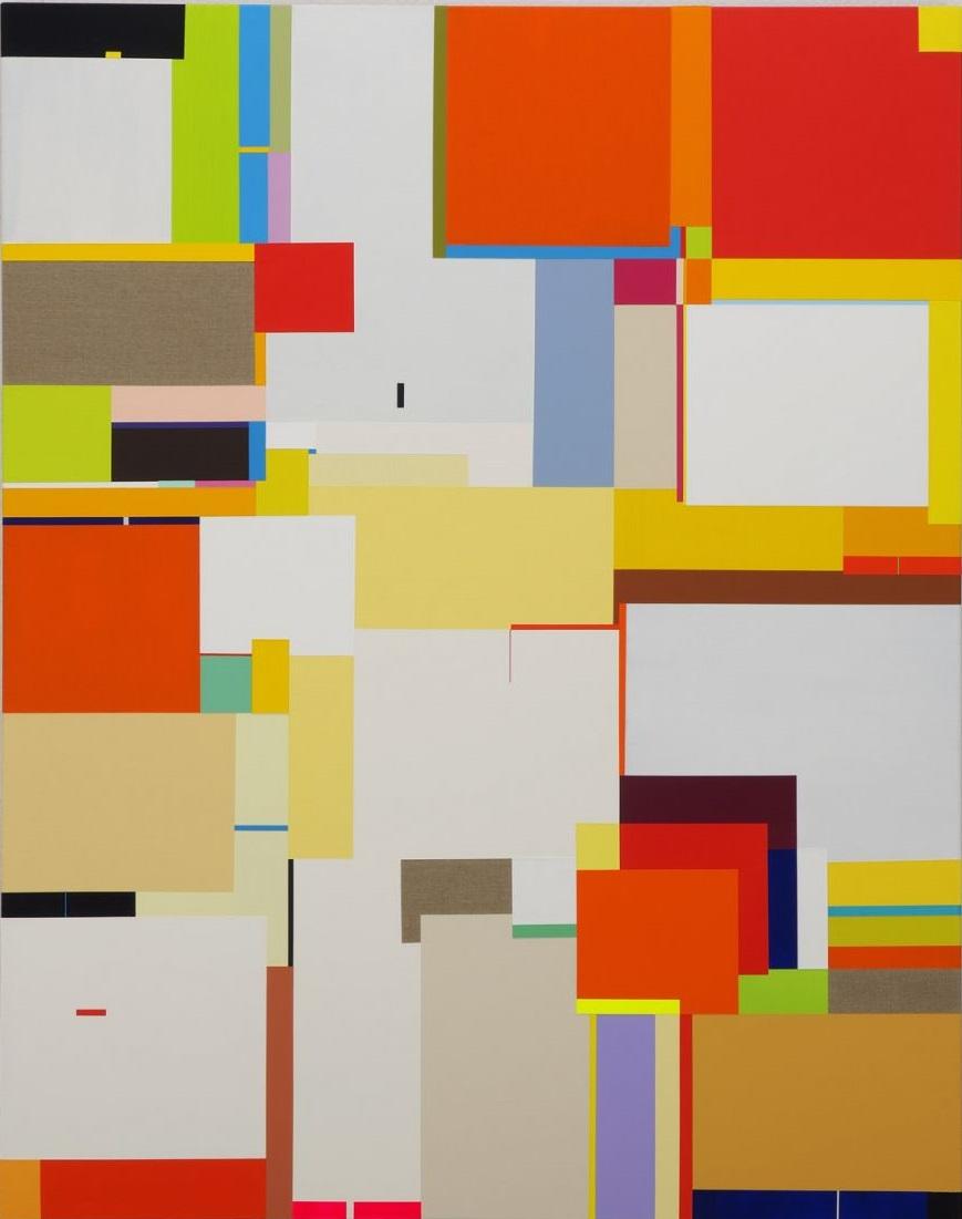 Richard Schur - Lioness - 2017, acrylic on canvas, cm. 190x150