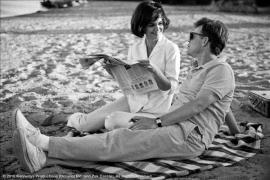 John Fitzgerald Kennedy con la moglie Jacqueline a Hyannis Port 1959